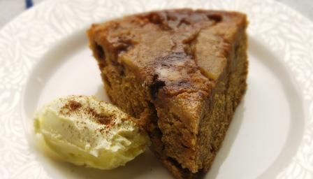 Apple and fudge cake