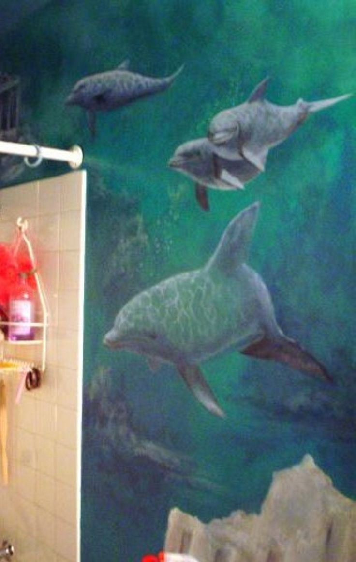 46 best trompe oeil peinture images on pinterest mural ideas underwater mural detail dolphin wall