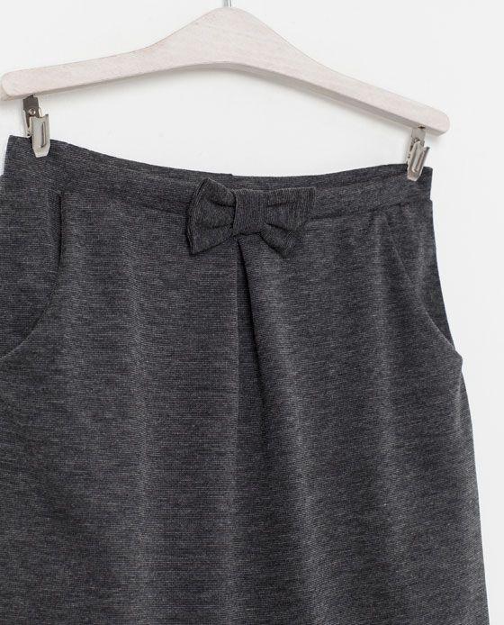 FALDA CON LAZO - Faldas y shorts - Niña (2 - 14 años) - Niños   ZARA México