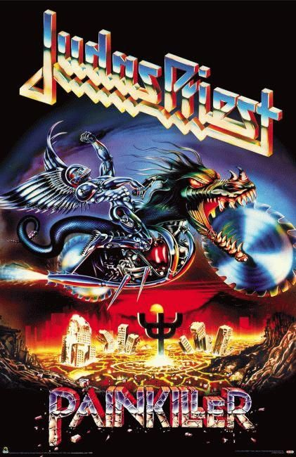 Poster for the Judas Priest album Painkiller from 1990.