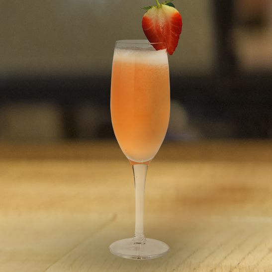 A classic Bellini with a touch of Stoli vodka and peach schnapps. Get the recipe here.