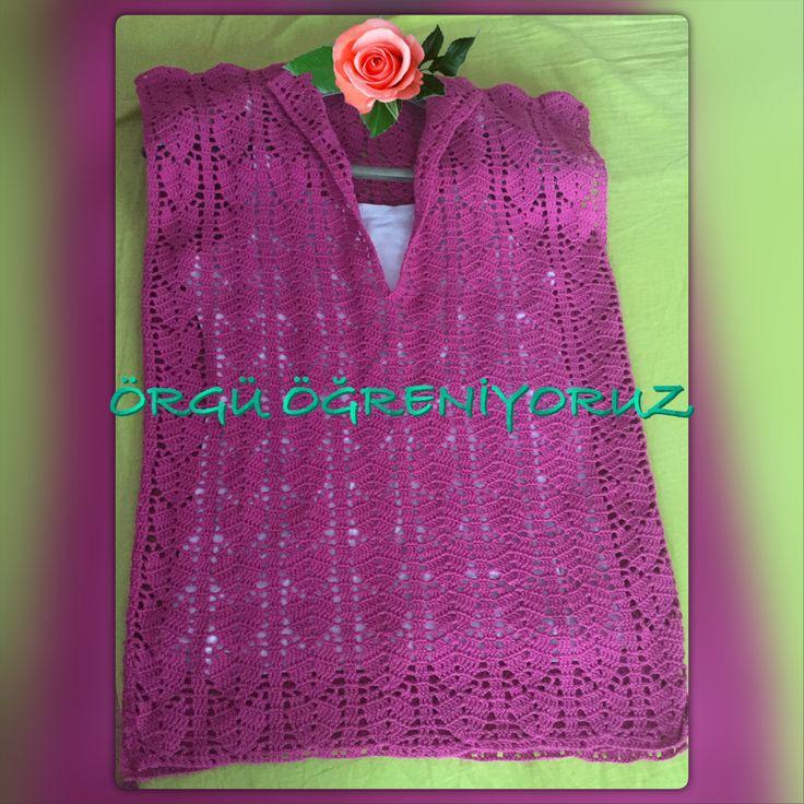 Crochet blouse🌺🌸