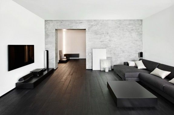 Eine Wand in Beton-Optik passt nicht nur zum Industrie-Stil.