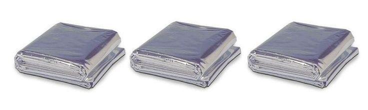 Heat Reflective Emergency Blanket / Survival Blanket - Pack of 3 ** Visit the image link more details.