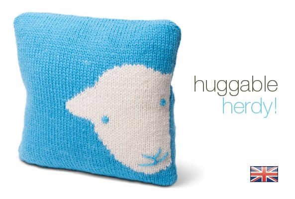 Herdy Cushion Knitting Pattern : Huggable Herdy! The Herdy Company UK ~ Cushion cover knit kit. Kit contains 3...