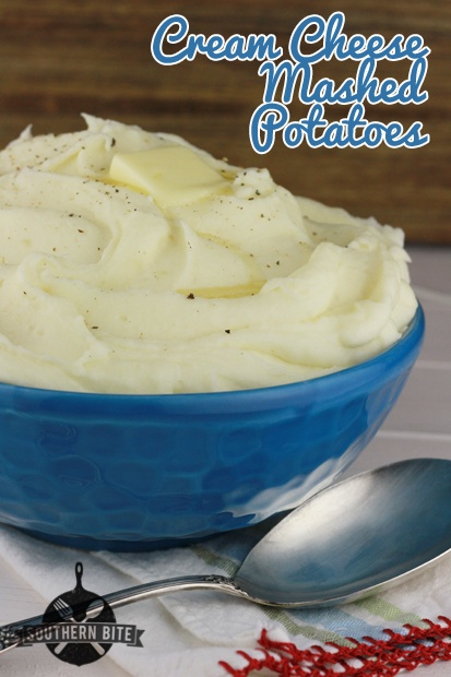 Cream Cheese Mashed Potatoes recipe from Southern Bite - so smooth and creamy!