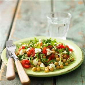 Chickpea, goat's cheese and rocket salad Recipe | delicious. Magazine free recipes