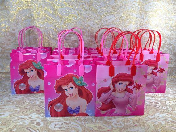 Disney Princess Ariel -  Little Mermaid Candy Goody Loot favor Bags Birthday Party box