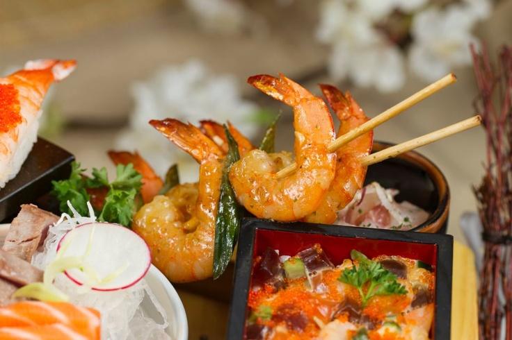 Ebi Kushi: Spiedini di Gamberi in salsa giapponese.