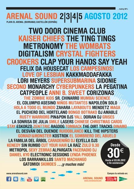 Festival Arenal Sound 2012 en Burriana     desde 2 agosto 2012 hasta 5 agosto 2012