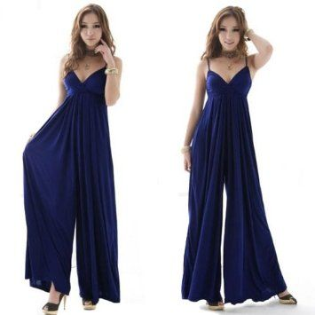 B00AVE1RSE  Wisedeal 1pc Elegant Ladies Women teens milk silk V-Neck Sexy Formal Party Cocktail Evening Dress Jumpsuits pajamas onesie romper Pants ---See more at http://www.clothing-brands.commissionblast.com