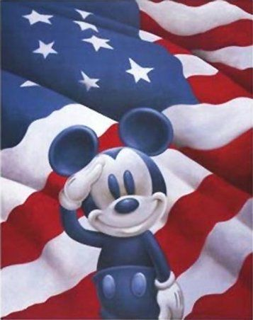 Mickey salutes: Mickey Mouse, Mickey Salutes, July, Disney, 4Th, Red White, Mickeymouse