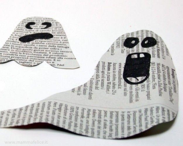 Lavoretti di Hallowen per bambini con la carta