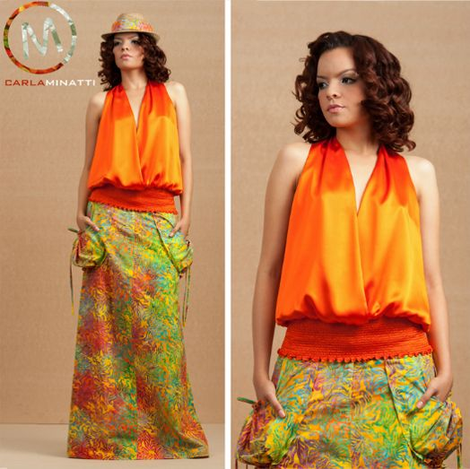 We love how Colombian designer Carla Minatti used our Batik Cotton for this great skirt! (CBF7920K)