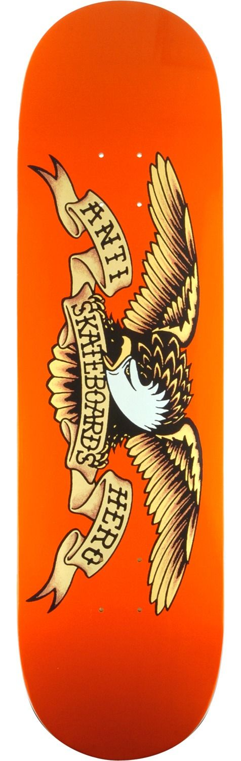 Anti Hero Skateboards Classic Eagle Orange Skateboard