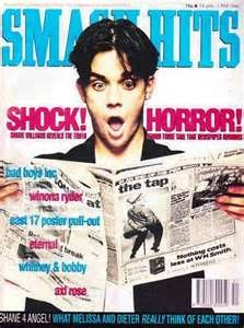 Robbie Williams on the cover of Smash Hits magazine. Ha!