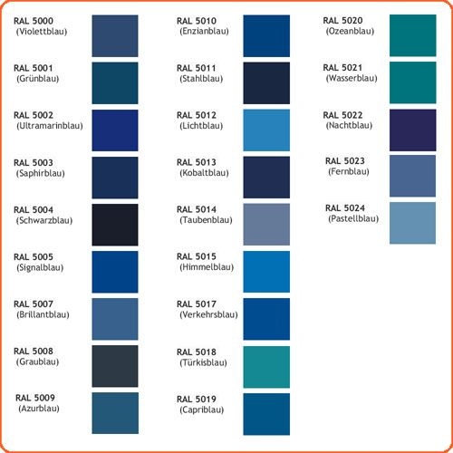 Bildergebnis Für Farbnamen Blau Ral Farbpalette Blau