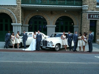 The bridal Party at the Old Fire Station.  Perth wedding cars from Absolutely Fabulous Wedding Cars... see more at http://abfabweddingcars.mirrabooka.weddingcircle.com.au