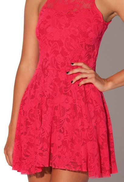 Red Lace Skater Dress RRP $90