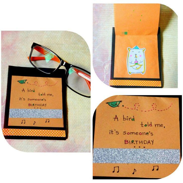 Last minute Card #14: Fabulous idea to make card in few minutes..