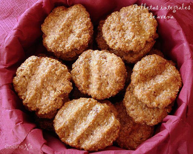 Cocinax2. Las recetas de Laurita.: Galletas integrales de avena con manzana y pasas