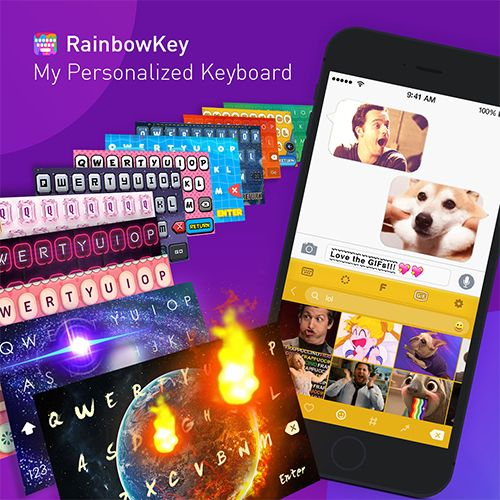 Customize your own keyboard with your favorite pictures!✌️😍👍 Download #RainbowKey For Free: