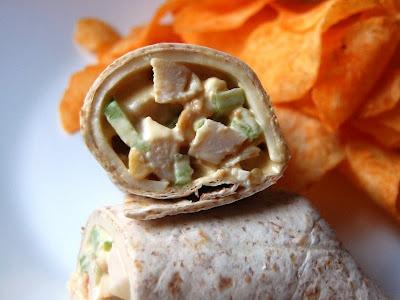 Honey Mustard Cashew Chicken Salad Wraps from @Cassie Warren - Cassie ...