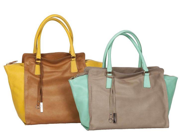 Azzurro, arancio e giallo...ecco i tocchi di colore che potete scegliere per vivacizzare la vostra borsa! http://www.caleidostore.it/it/borse-medie/147-zinco-quadrata.html