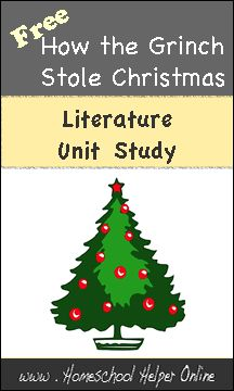 Homeschool Helper Online's How the Grinch Stole Christmas Unit Study