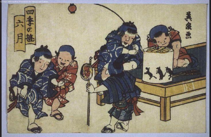 Keisai Eisen: Amusements in the Four Seasons: Sixth Month - Edo Tokyo Museum