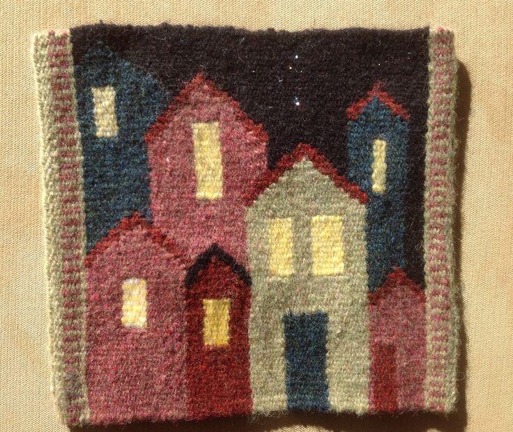 Ginny Bridge,  Warp and Weft online tapestry weaving class with Rebecca Mezoff