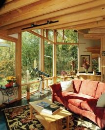 A Sociable, Passive Solar Home and Kitchen  Designed around a large, people-friendly kitchen area, this passive solar home in Asheville, North Carolina, really shines.