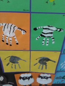 handprint zebra craft idea for kids