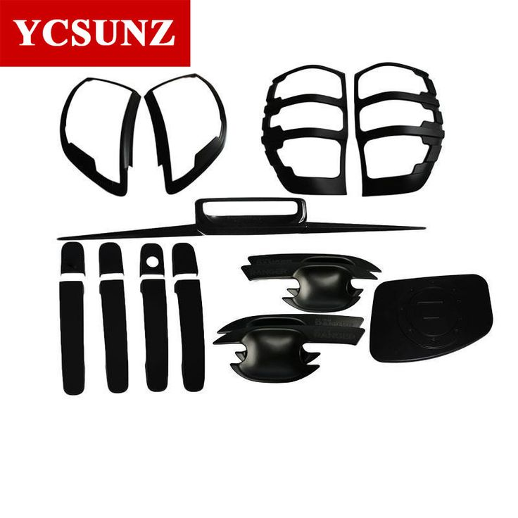 sale for ford ranger t6 wildtrak accessories abs car styling black kit full set for ford ranger t6 #pickup #accessories
