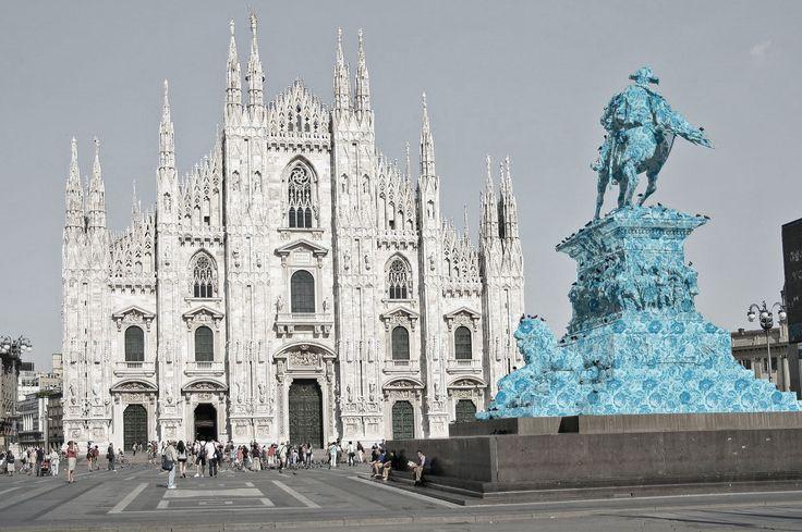 Monarchia POP - Duomo di Milano - Ercole Rosa, Monumento a Vittorio Emanuele II, 1893