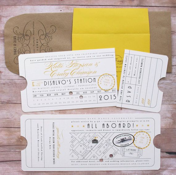 Punch Card Ticket Train Depot Union Station by LetterBoxInk