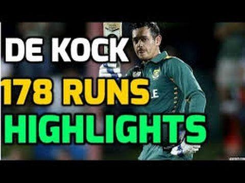 Quinton deKock 178 runs Against Australia 1st ODI 2016