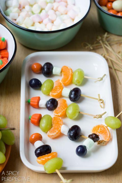 Fun Halloween Fruit Skewers #halloween #kids