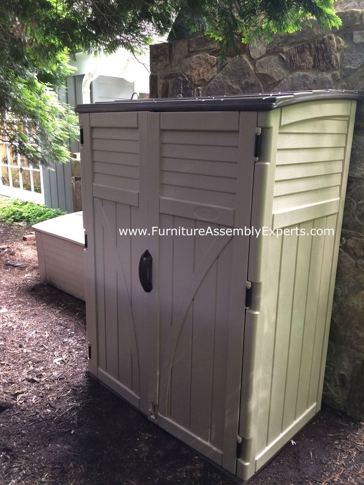 suncast storage shed assembled for a customer in Bethesda Maryland by Furniture Assembly Experts company
