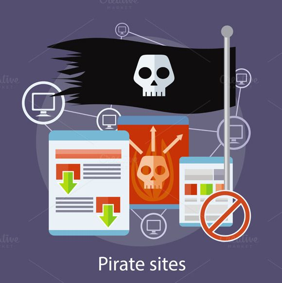 Pirate Sites Concept by robuart on Creative Market