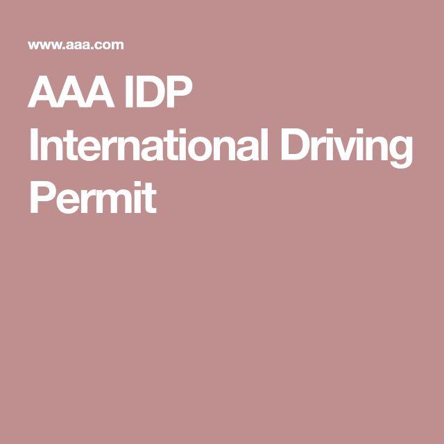 AAA IDP International Driving Permit