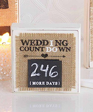 Burlap 'Wedding Countdown' Plaque #zulily #zulilyfinds
