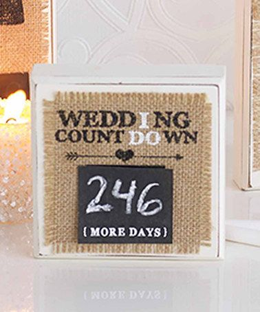 Burlap 'Wedding Countdown' Plaque #zulily #zulilyfinds