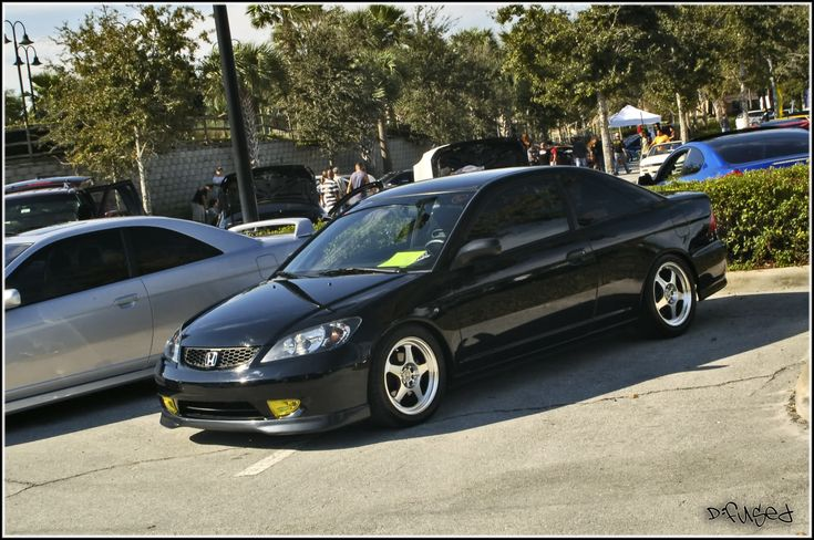 clean black 04 05 civic i love these rims too they look. Black Bedroom Furniture Sets. Home Design Ideas