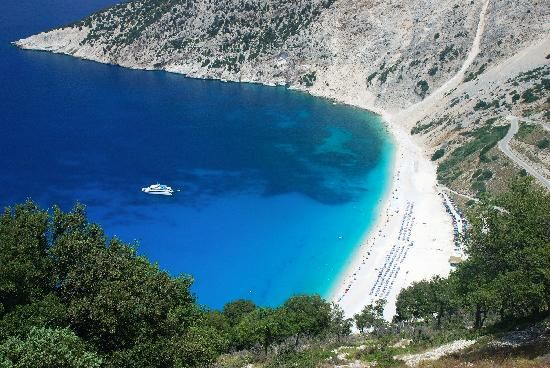 Best Greek beaches on tripadvisor.com   here: Myrtos Bay   Kefalonia island   Greece