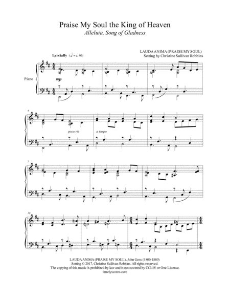 This Piano Sheet Music Arrangement Of The Hymn