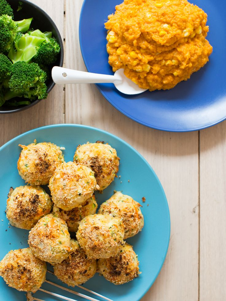 Mexican Chicken Patties with Kumara Corn Mash and Broccoli