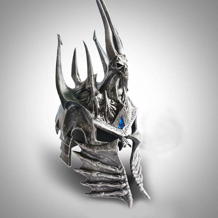 WOW World of War craft Lich King Death Knights Helmet Frostmourne 1:1 Scale