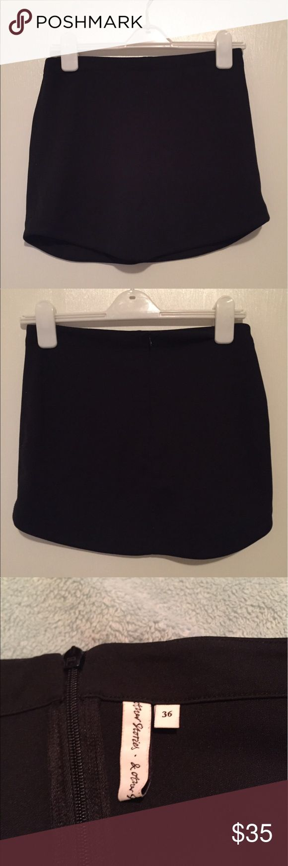 And other stories black mini skirt & other stories black polyester mini skirt And Other Stories Skirts Mini