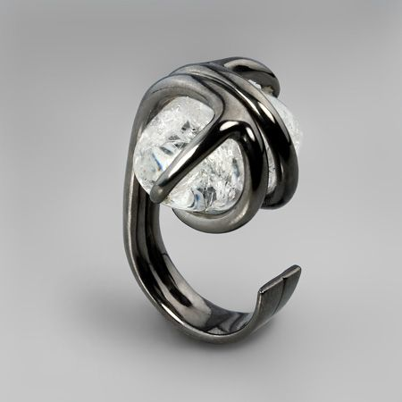 G. Kabirsk, Russiai: rhodium plated silver & crystal